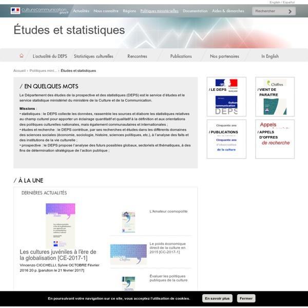 DEPS - Statistiques - Culture & Com