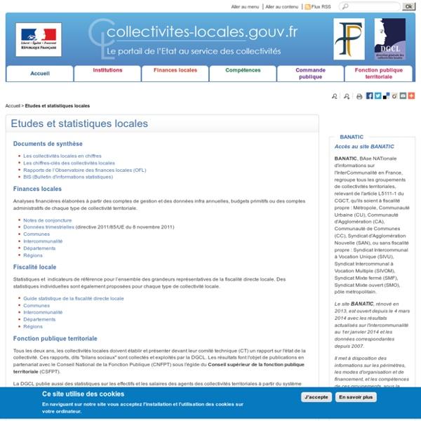 DGCL - Statistiques - Collectivités
