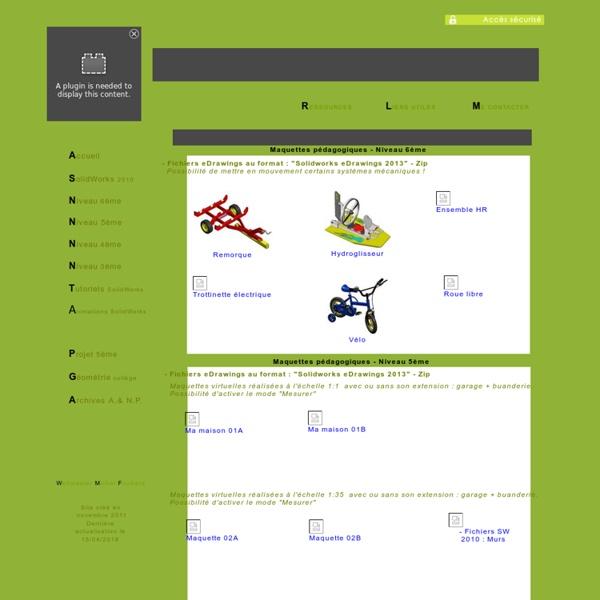 Tous les objets 3D étudiés en technologie au format eDrawings