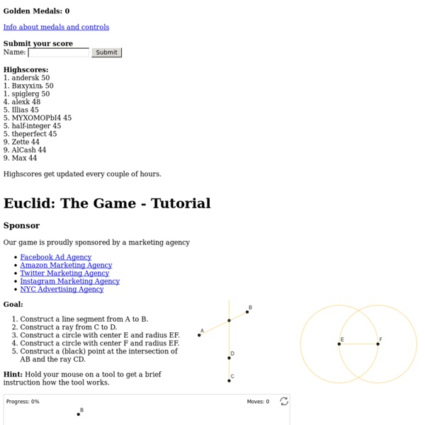 Euclid: The Game - Tutorial