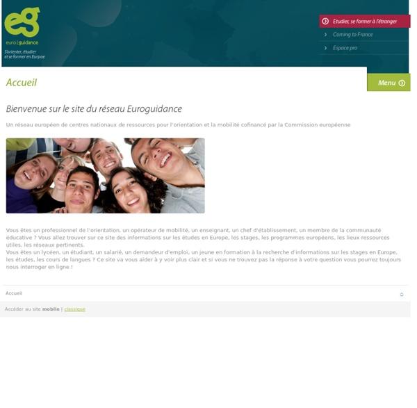 Euroguidance : étudier, se former, travailler en Europe