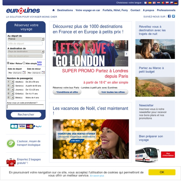Votre voyage en bus à prix discount en Europe & France