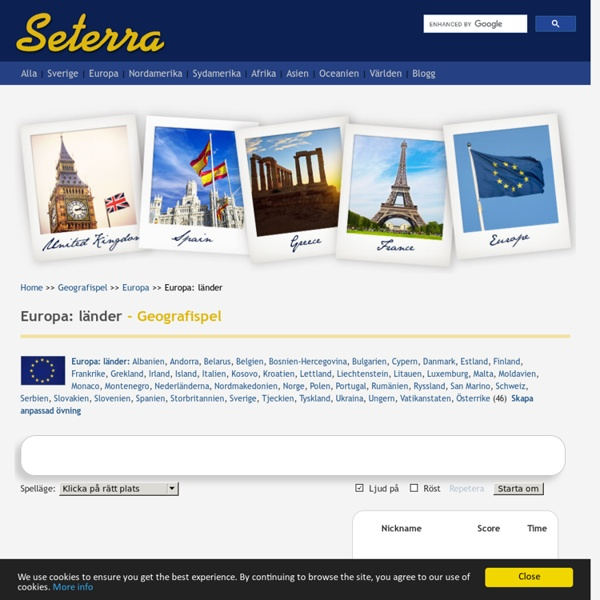 Seterra/ geografispel