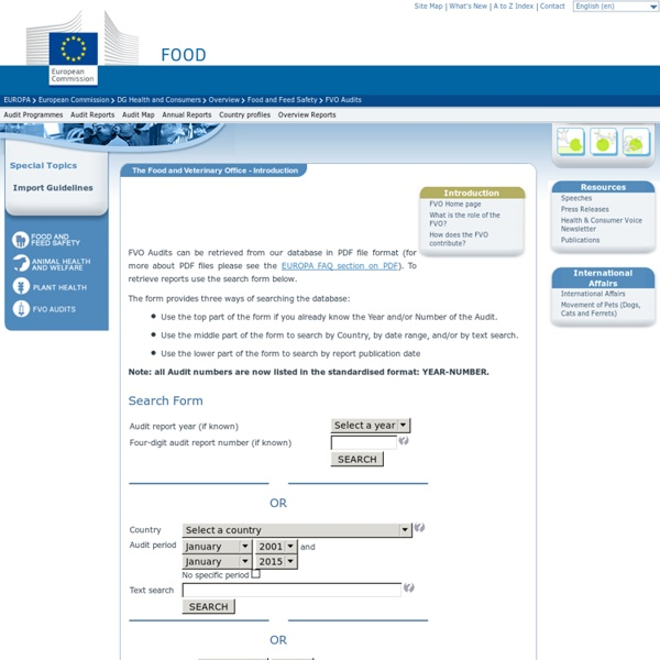 EUROPE - RAPPORTS OAV