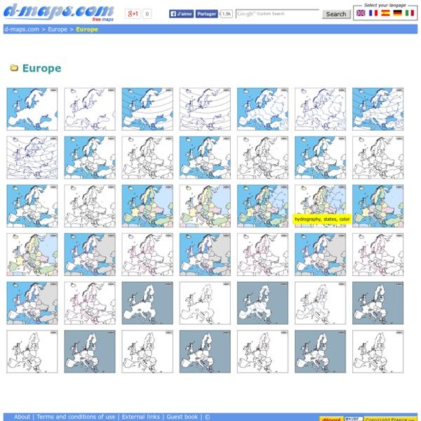 Europe: Free maps, free blank maps, free outline maps, free base maps