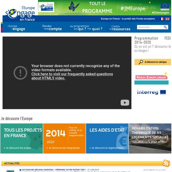 Europe en France, le portail des Fonds européens