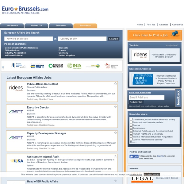 EuroBrussels - Jobs in Brussels, EU Institutions and International Organisations