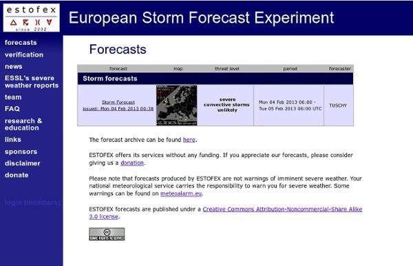 European Storm Forecast Experiment - ESTOFEX