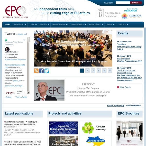 EPC - European Policy Centre - Independent think tank