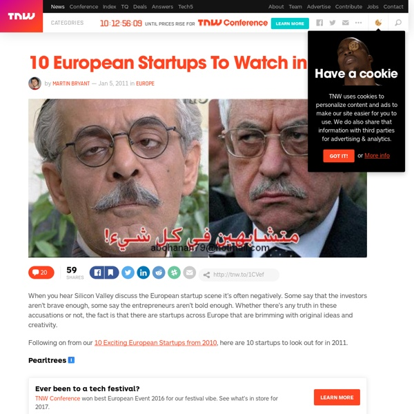 10 European Startups To Watch in 2011