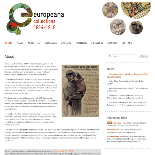 Europeana Collections 1914-1918 -