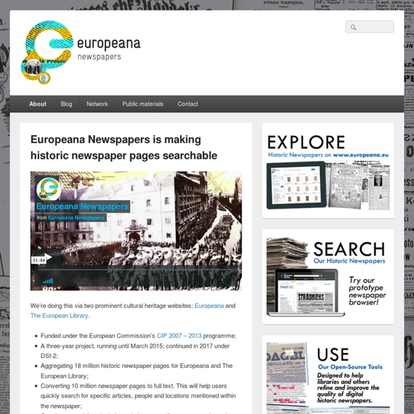 A Gateway to European Newspapers Online