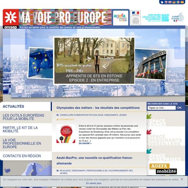 Portail européen pour la mobilité des jeunes en voie professionnelle – Onisep/agefa PME