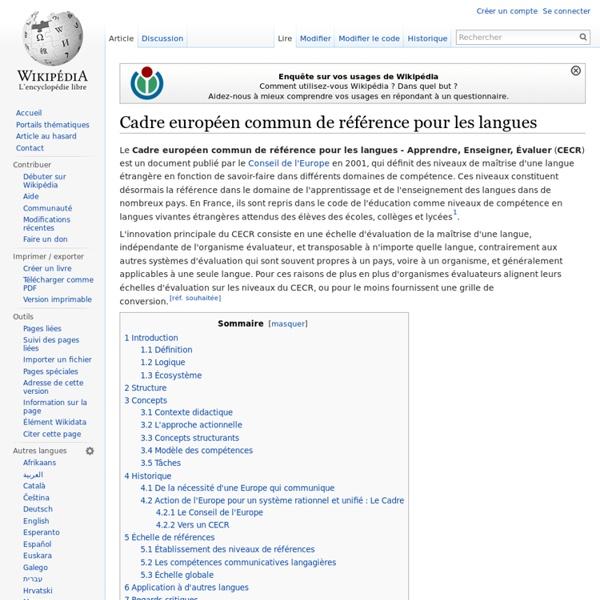 cadre europ u00e9en commun de r u00e9f u00e9rence pour les langues