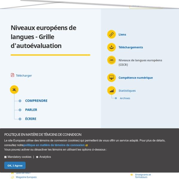 Niveaux européens de langues - Grille d'autoévaluation