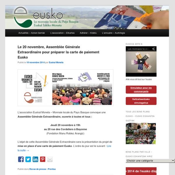 Euskal Tokiko Moneta – La monnaie locale du Pays Basque