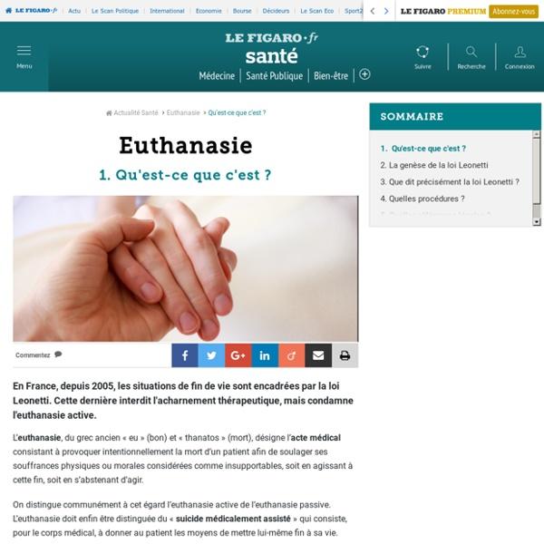 Euthanasie : Qu'est-ce que c'est ?