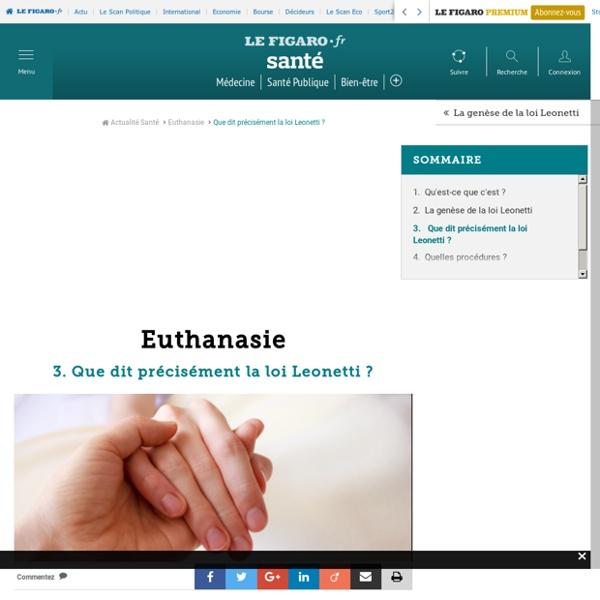 Euthanasie : Que dit précisément la loi Leonetti ?