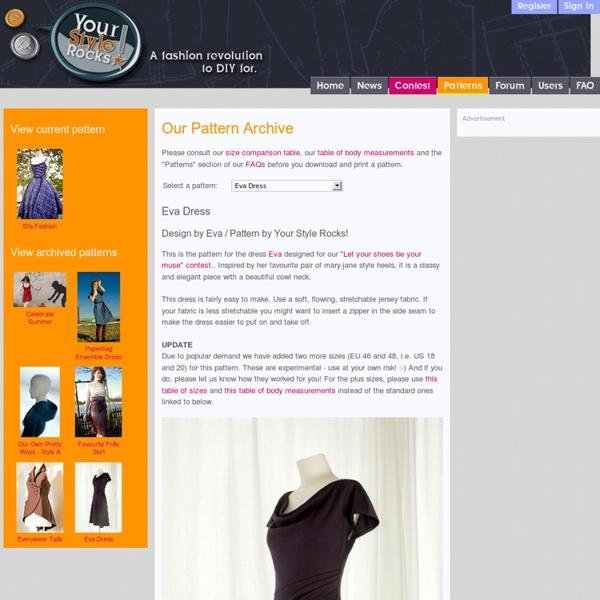Eva Dress - Patterns Archive