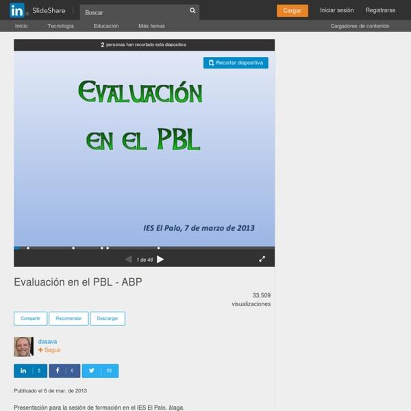 Evaluación en el PBL - ABP