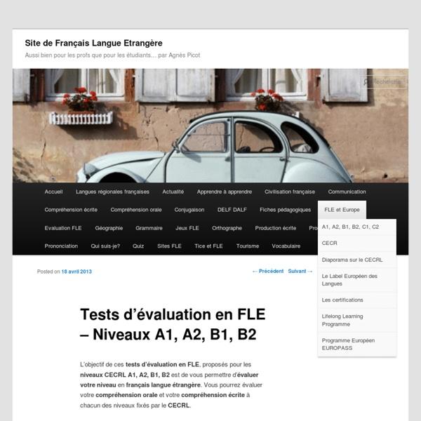 Evaluation en FLE - Niveaux A1, A2, B1, B2