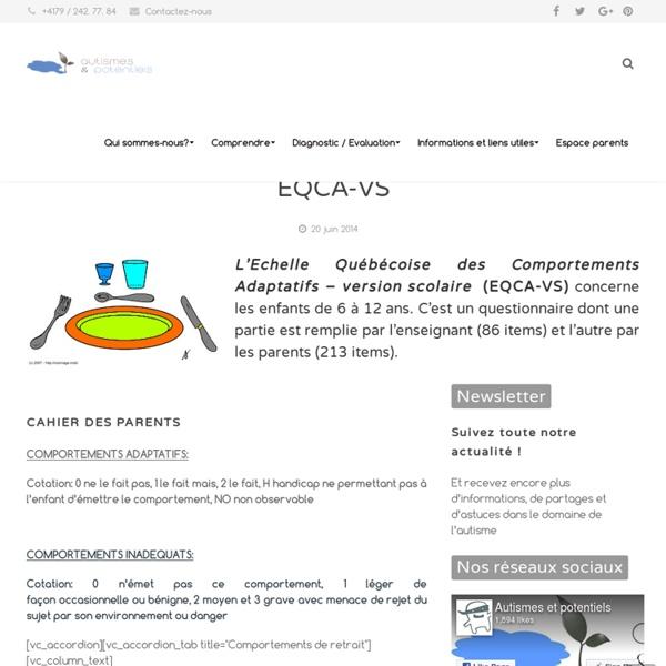 Les outils d'évaluation des habiletés sociales: EQCA-VS