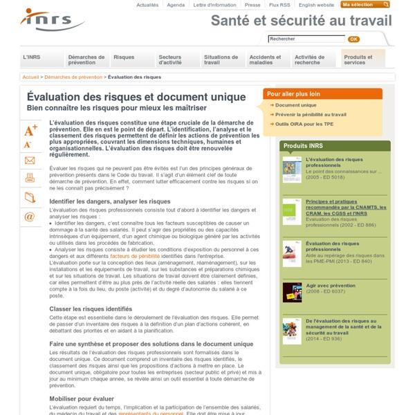 Évaluation des risques et document unique
