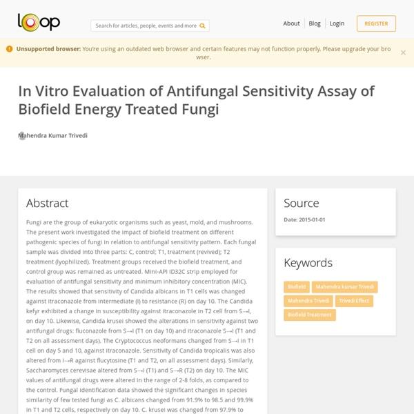 Investigation of Antifungal Sensitivity of Fungi