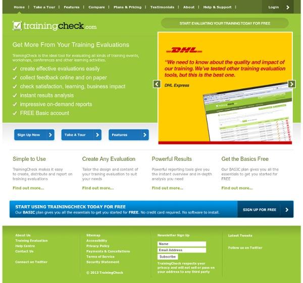 Online Training Evaluation Tool - TrainingCheck