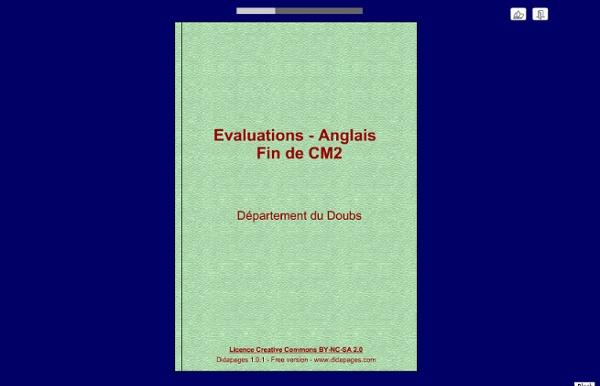 Evaluations - Anglais Fin de CM2