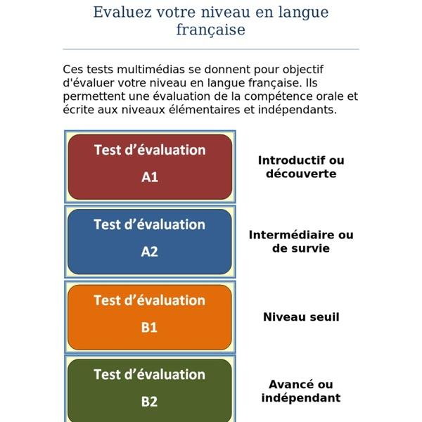 Evaluez votre niveau en français