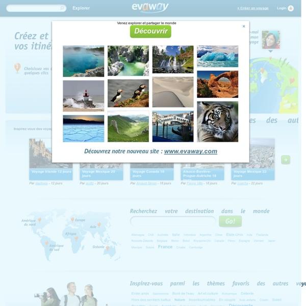 Evaway - créer un itineraire de voyage