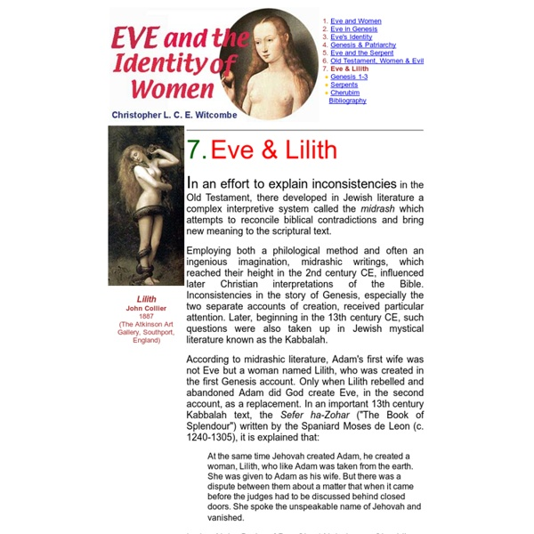 Eve and the Identity of Women: 7. Eve & Lilith