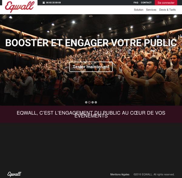 EQWALL - Plateforme de services dédiée aux conférences