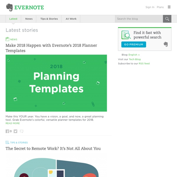 Evernote Blog - Remember Everything.