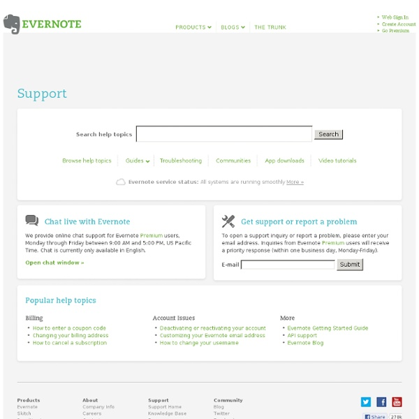 Adding content to Evernote using email