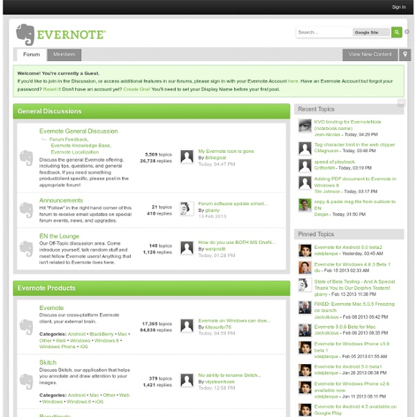 Evernote User Forum
