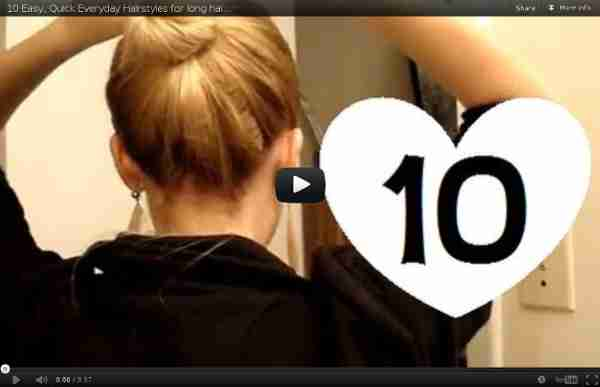Quick Everyday Hairstyles for long hair & hairstyles for medium hair