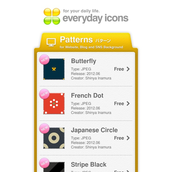 Everyday icons - Patterns