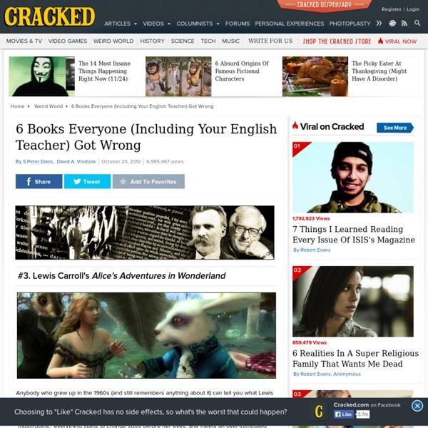 6 Books Everyone (Including Your English Teacher) Got Wrong