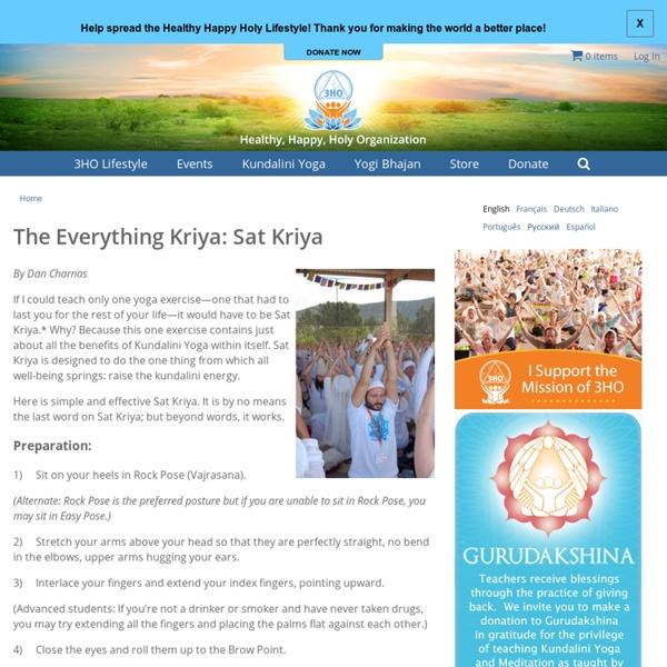 The Everything Kriya: Sat Kriya