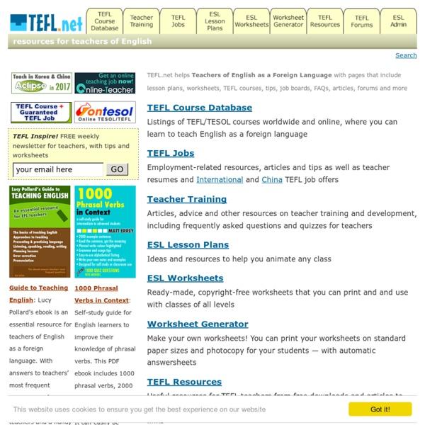 TEFL.net for Teachers of English