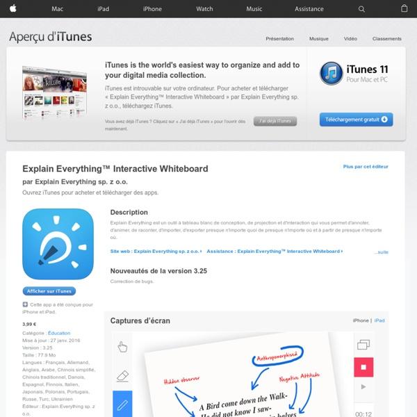 Explain Everything™ Interactive Whiteboard pour iPhone, iPod touch et iPad dans l'App Store sur iTunes