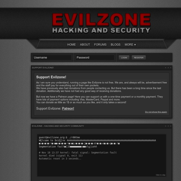 Evilzone - Hacking and Security Community - Index