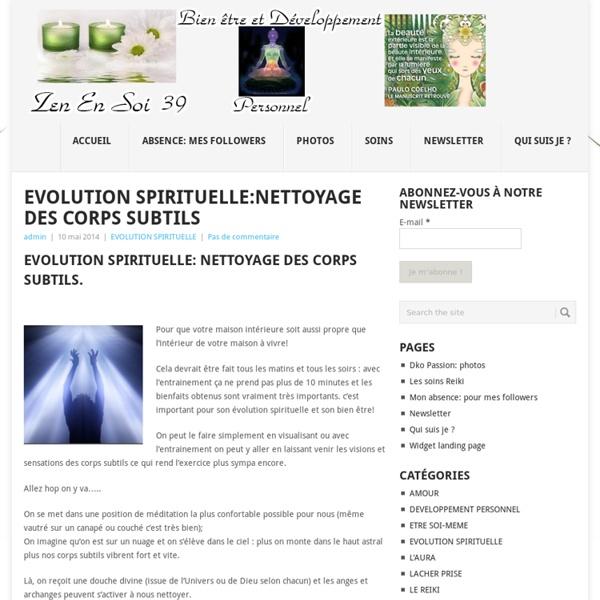 10/05/14 Nettoyage des corps subtils