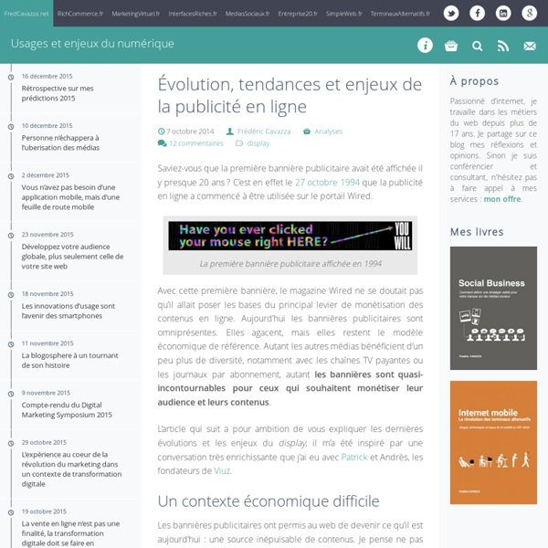 Évolution, tendances et enjeux de la publicité en ligne