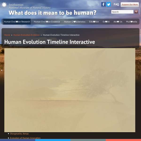 Human Evolution Timeline Interactive