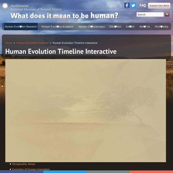 Human Evolution Timeline Interactive