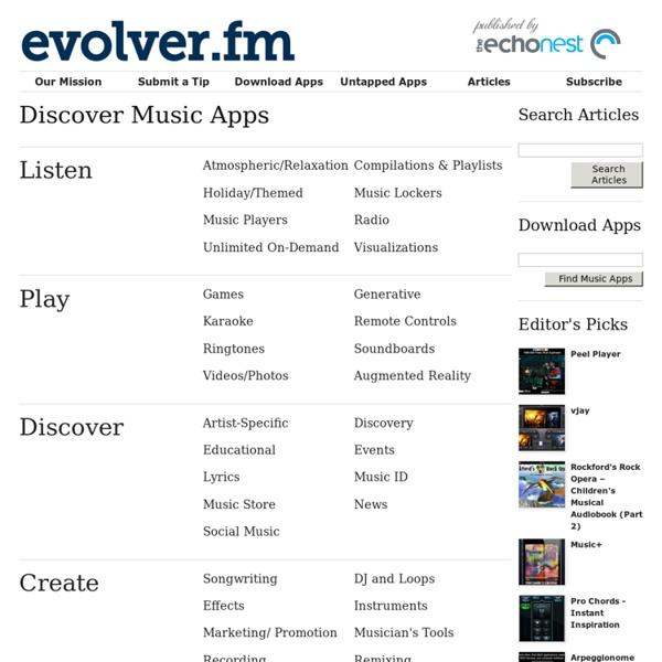 Evolver.fm loves music apps!