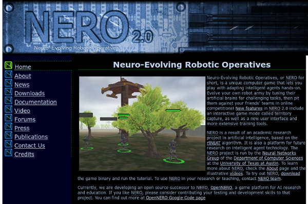 Neuro Evolving Robotic Operatives